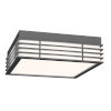 This item: Marue Textured Gray 11-Inch Square LED Flush Mount