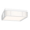 This item: Marue Textured White 11-Inch Square LED Flush Mount