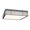 This item: Marue Textured Gray 15-Inch Square LED Flush Mount