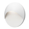 This item: Ovos Textured White Round LED Sconce