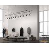 This item: Suspenders Satin Black 14-Feet 26-Light LED Linear Chandelier