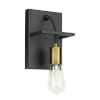 This item: Black and Aged Brass Eight-Inch One-Light Wall Sconce