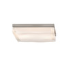 This item: Fluid Satin Nickel Two-Light Large Square Flush Mount
