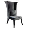 This item: Mad Hatter Gray with Black Wood Dining Chair