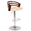 This item: Adele Walnut and Cream 44-Inch Bar Stool