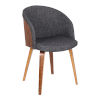 This item: Alpine Charcoal with Walnut Dining Chair