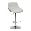 This item: Anibal White and Chrome 33-Inch Bar Stool