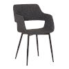 This item: Ariana Gray with Black Powder Coat Dining Chair