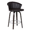 This item: Ashley Brown and Chrome 30-Inch Bar Stool