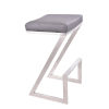 This item: Atlantis Gray and Stainless Steel 26-Inch Counter Stool