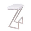 This item: Atlantis White and Stainless Steel 30-Inch Bar Stool