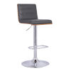 This item: Aubrey Gray and Chrome 32-Inch Bar Stool