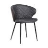 This item: Ava Gray with Black Powder Coat Dining Chair