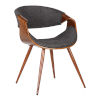 This item: Butterfly Charcoal with Walnut Dining Chair