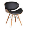 This item: Cassie Black with Walnut Dining Chair