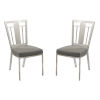 This item: Cleo Gray with Black Wood Dining Chair, Set of Two