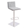 This item: Crystal Gray and Stainless Steel 31-Inch Bar Stool