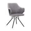 This item: Darcie Gray with Black Powder Coat Dining Chair