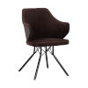 This item: Darcie Brown with Black Powder Coat Dining Chair