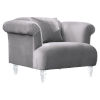 This item: Elegance Gray Sofa Chair