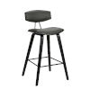 This item: Fox Gray and Black 28-Inch Bar Stool