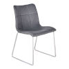 This item: Hamilton Vintage Gray with Brushed Stainless Steel Dining Chair, Set of Two