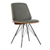 This item: Inez Gray with Black Powder Coat Dining Chair