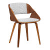 This item: Ivy Gray with Walnut Dining Chair