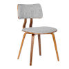 This item: Jaguar Gray with Walnut Dining Chair