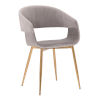 This item: Jocelyn Gray with Gold Dining Chair