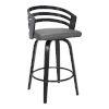This item: Jayden Black and Gray 30-Inch Bar Stool