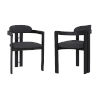 This item: Jazmin Charcoal with Black Dining Chair, Set of Two