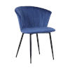 This item: Lulu Blue with Black Powder Coat Dining Chair