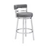 This item: Madrid Gray and Stainless Steel 26-Inch Counter Stool
