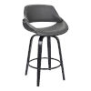 This item: Mona Black and Gray 26-Inch Counter Stool