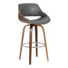 This item: Mona Walnut and Gray 26-Inch Counter Stool