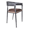 This item: Macey Brown with Industrial Gray Dining Chair, Set of Two