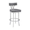 This item: Natalie Vintage Gray and Stainless Steel 30-Inch Bar Stool