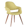 This item: Phoebe Green with Walnut Dining Chair