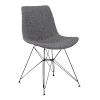 This item: Palmetto Charcoal with Black Dining Chair