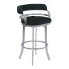 This item: Prinz Black and Stainless Steel 30-Inch Bar Stool