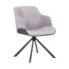 This item: Puma Gray Walnut with Black Powder Coat Dining Chair