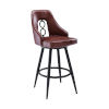 This item: Ruby Black and Vintage Coffee 30-Inch Bar Stool