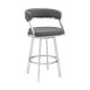 This item: Saturn Gray and Stainless Steel 26-Inch Counter Stool