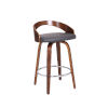 This item: Sonia Gray and Walnut 26-Inch Counter Stool