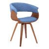 This item: Summer Blue with Walnut Dining Chair
