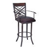 This item: Tahiti Brown and Auburn Bay 26-Inch Counter Stool with Arms