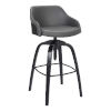 This item: Tara Gray and Black 32-Inch Bar Stool