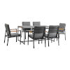 This item: Crown Black Seven-Piece Outdoor Dining Set