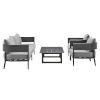 This item: Menorca Dark Gray Four-Piece Outdoor Four-Piece Conversation Set